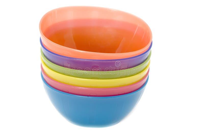 Plastic plates macro royalty free stock images