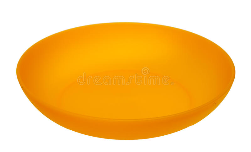 plastic plattayellow royaltyfria bilder