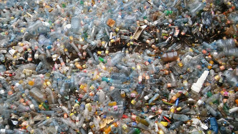 Plastic Bottles Pollution stock photos