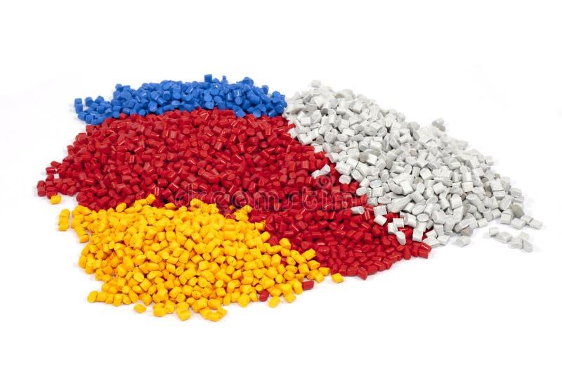 Plastic polymeerkorrels royalty-vrije stock afbeelding