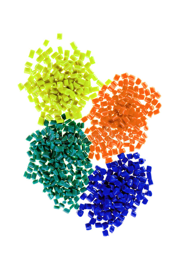 Plastic polymer. Pile of colorful plastic polymer royalty free stock photos