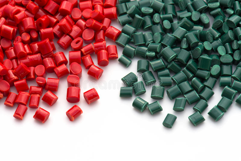 Plastic polymer granulate royalty free stock photography
