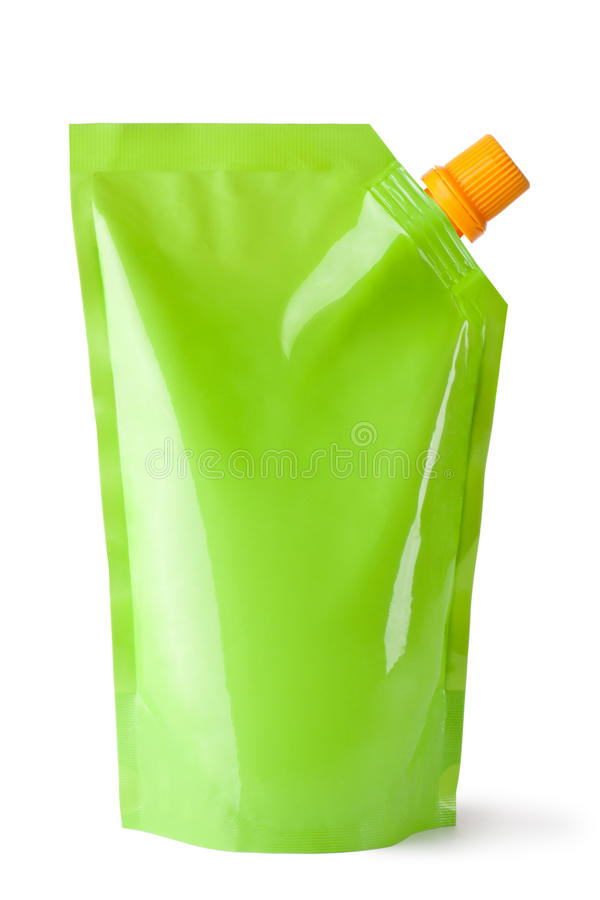 Plastic pouch with batcher stock photography