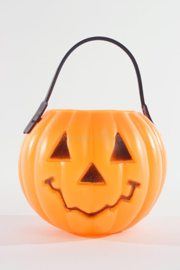 Plastic Pumpkin Royalty Free Stock Photo
