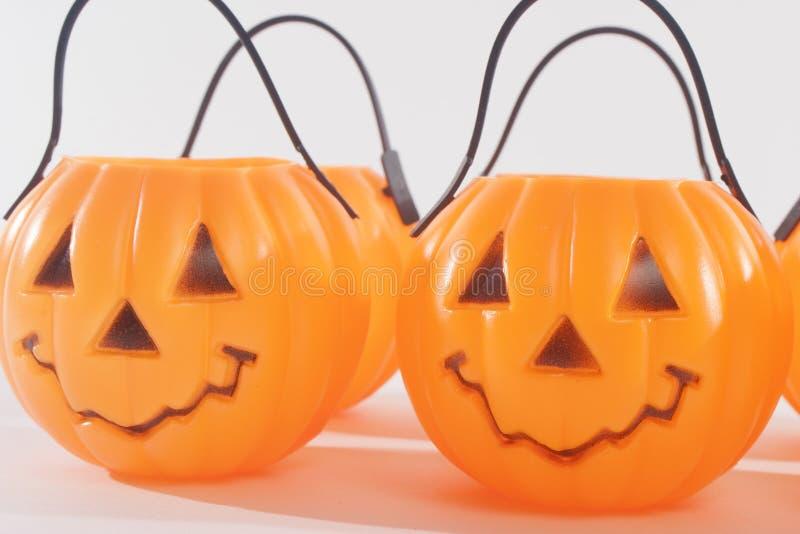 Plastic Pumpkins Royalty Free Stock Photography