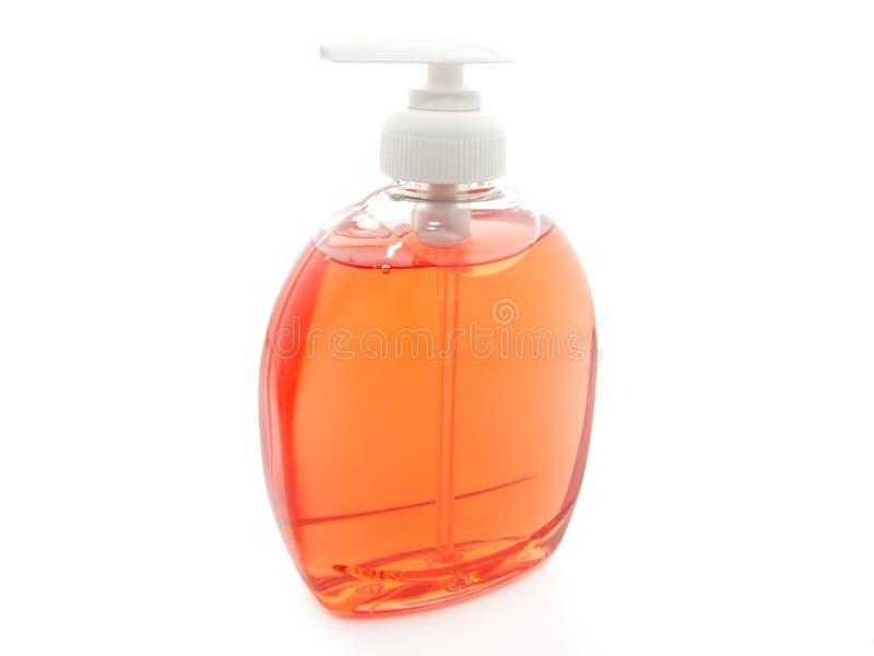 plastic pumptvål för flaska royaltyfria foton