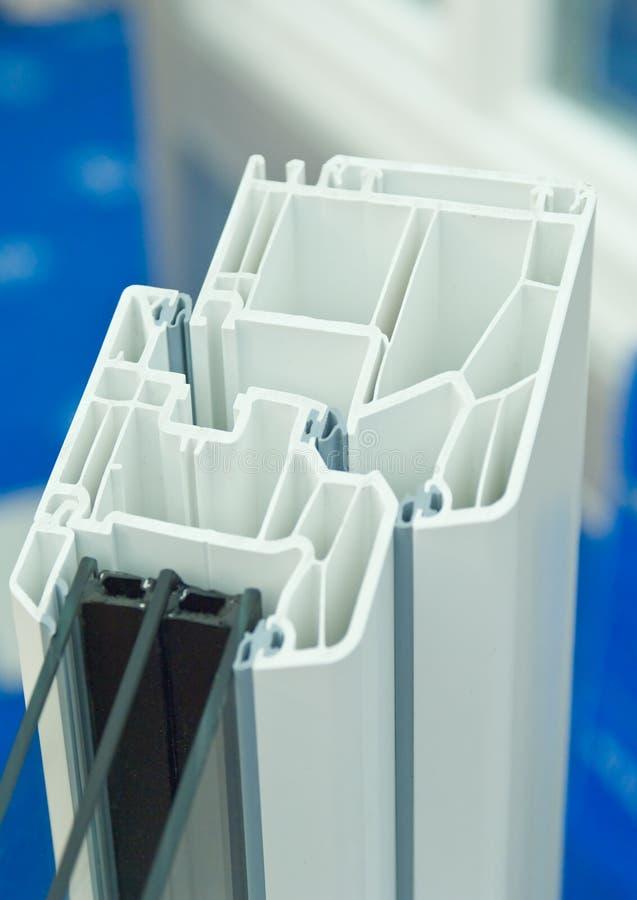 Plastic raamkozijn stock foto's