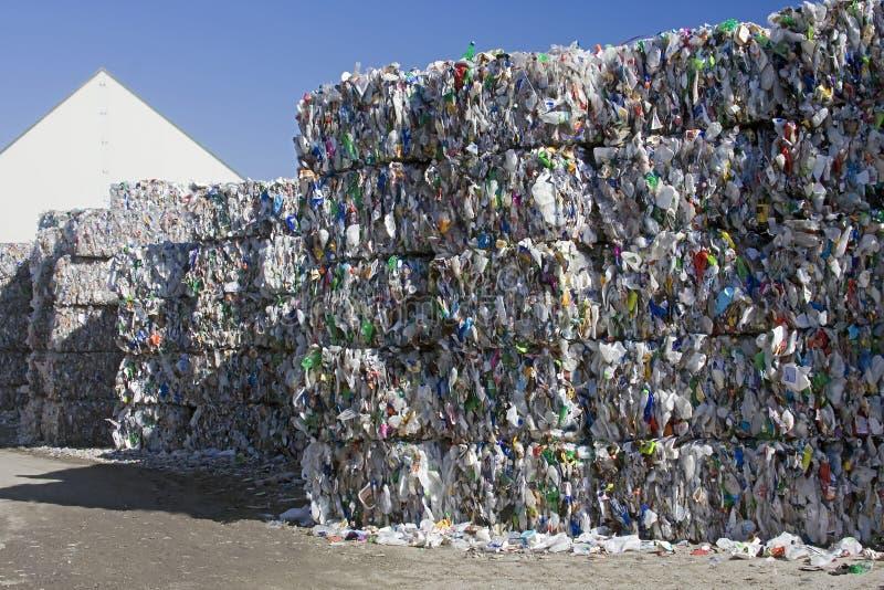 Plastic recycling royalty-vrije stock afbeeldingen