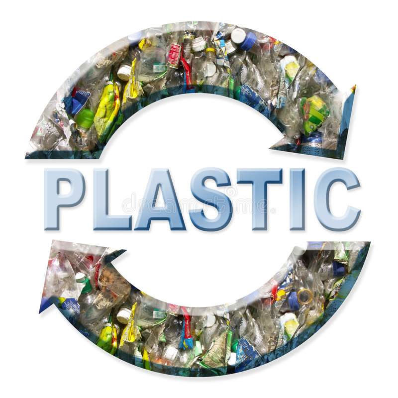 Plastic recycling royalty free illustration