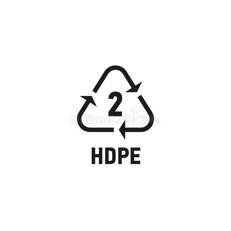 Plastic Recycling Symbol Isolated On White Stock Vector