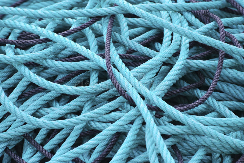 Plastic ropes stock photography