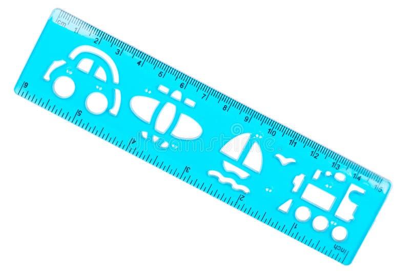 Plastic ruler and stencil