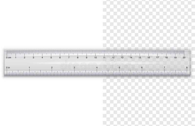 Plastic ruler stock illustration