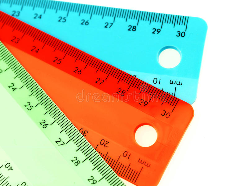 Plastic Rulers stock photography