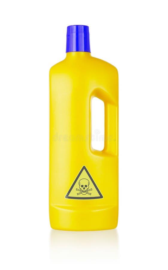 Plastic schoon:maken-detergent fles, giftig royalty-vrije stock afbeelding
