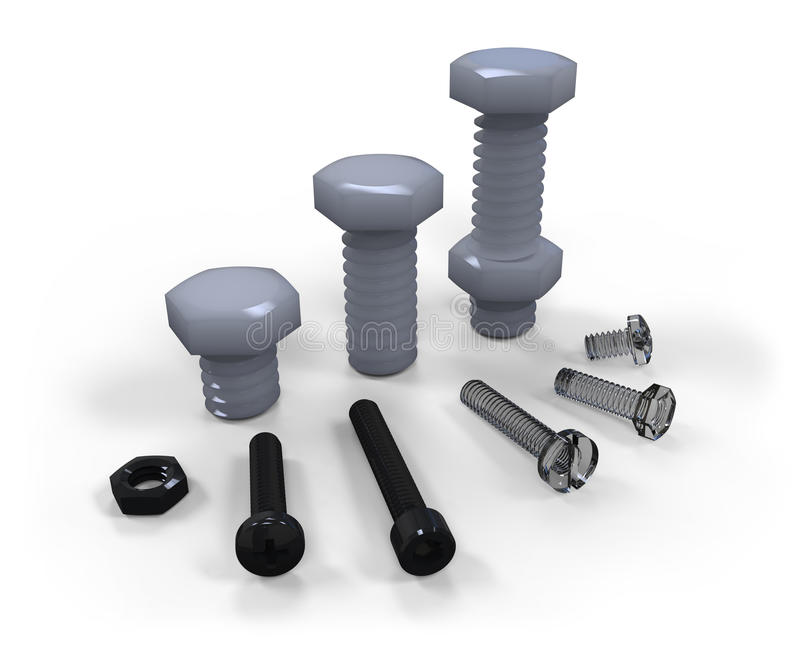 Download Plastic Screws Stock Photo - Image: 40980452
