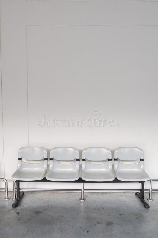 Plastic seat in airpor terminal or bus stop.  royalty free stock photos