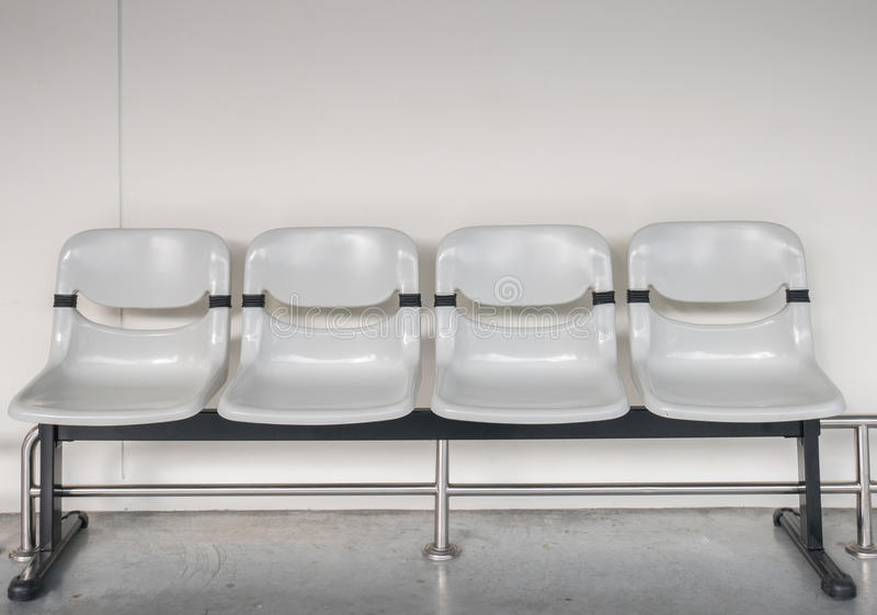 Plastic seat in airpor terminal or bus stop.  royalty free stock photo