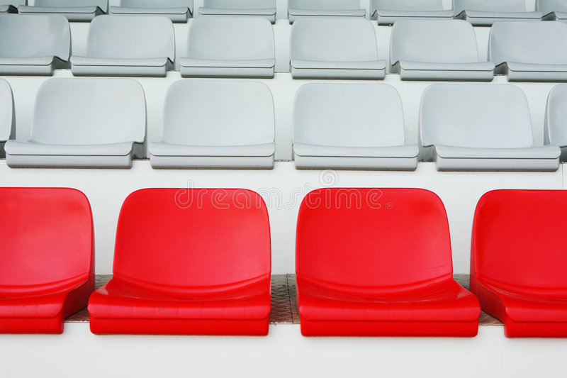 Plastic seats color royalty free stock photo