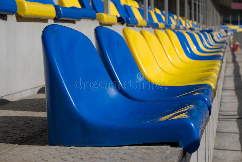 Download Plastic seats at stadium stock photo. Image of yellow - 20602384
