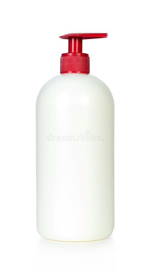 Plastic Shampoo bottle stock images