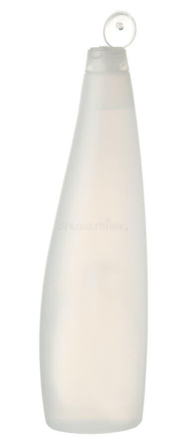 plastic shampootvål för flaska arkivfoto