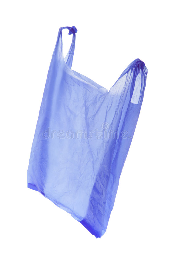 Plastic Shopping Bag. On Isolated White Background stock photos