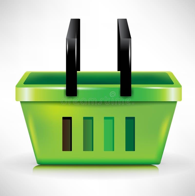 Plastic shopping basket royalty free illustration