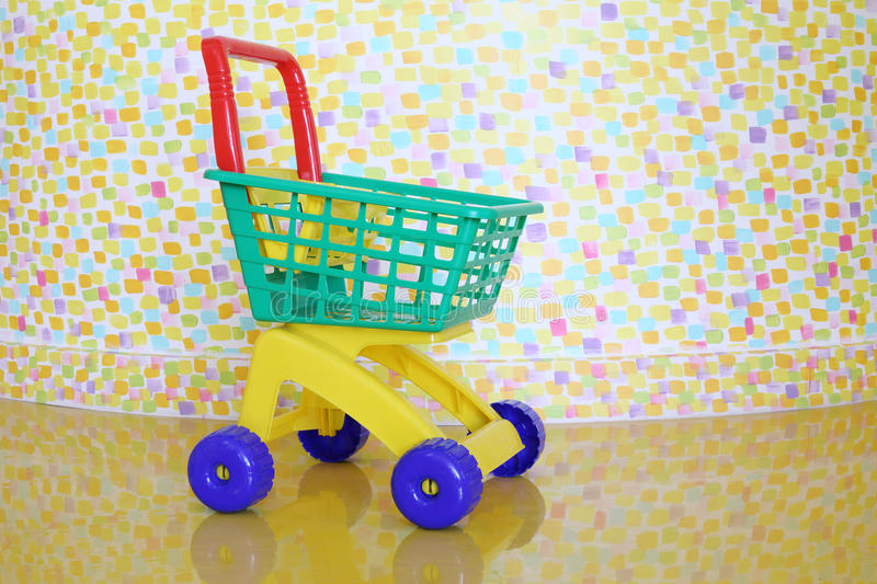 Download Plastic Shopping Trolley And Stylish Wall Stock Photo - Image of europe, floor: 33336626