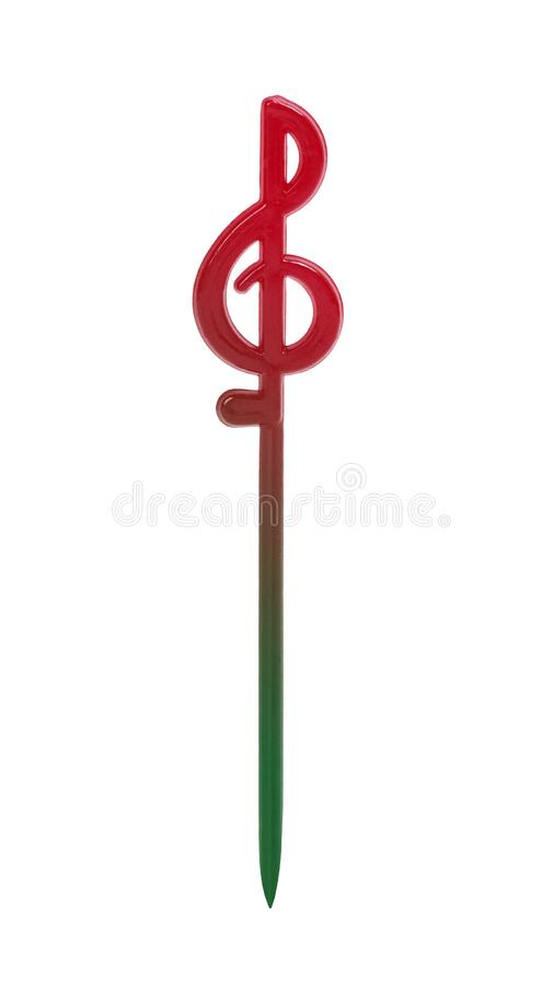 Plastic skewer, isolated on white background royalty free stock image