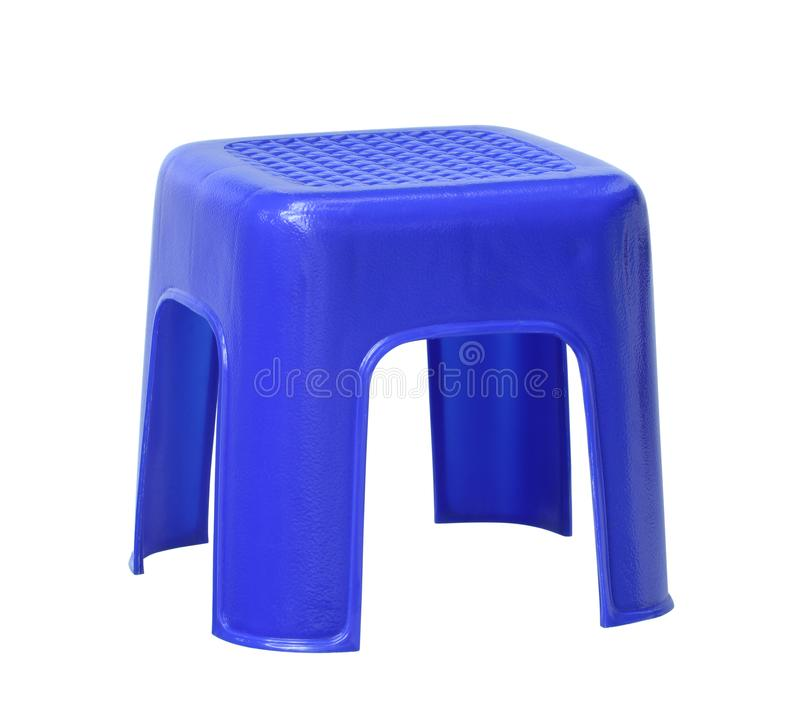 Plastic small chair. With clipping path isolated on white background stock images