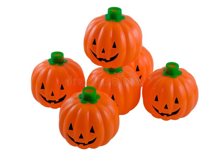 Plastic Smiling Jack O Lanterns stock images