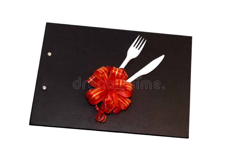 Download Plastic Spoon And Fork On A Black File Stock Image - Image of white, bistro: 6743245