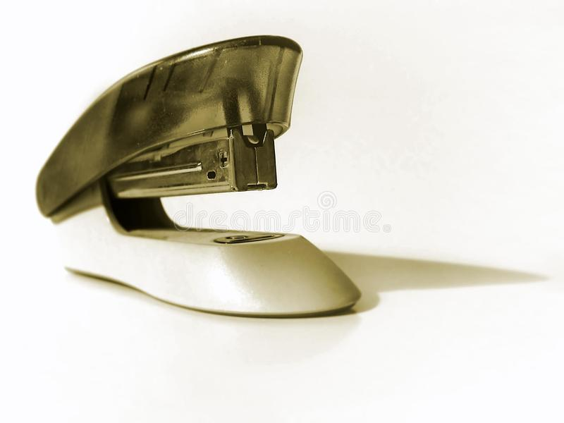 Plastic Stapler on White Background royalty free stock photo
