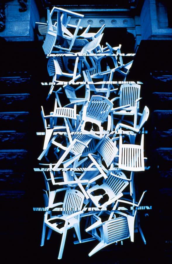Plastic Stoelen royalty-vrije stock afbeelding