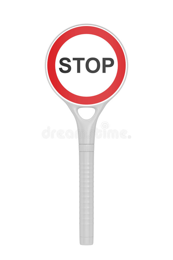 Download Plastic stop sign stock illustration. Image of police - 33699054