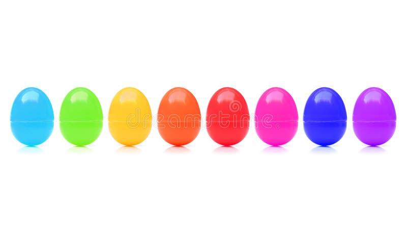 Plastic stuk speelgoed eieren royalty-vrije stock foto