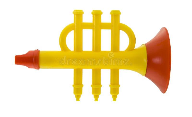 Plastic stuk speelgoed fluit stock afbeelding
