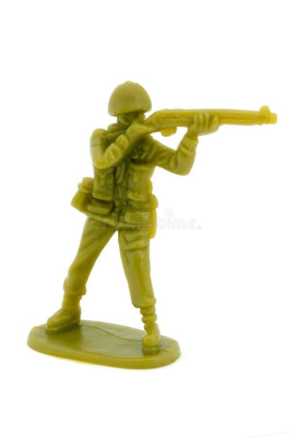 Plastic stuk speelgoed militair royalty-vrije stock foto's