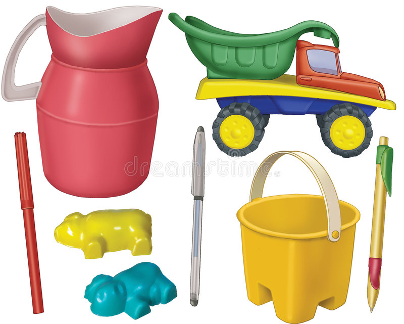 Download Plastic subjects stock illustration. Illustration of shovel - 4897913