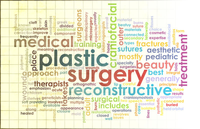 Plastic Surgery. As Before and After Results stock illustration