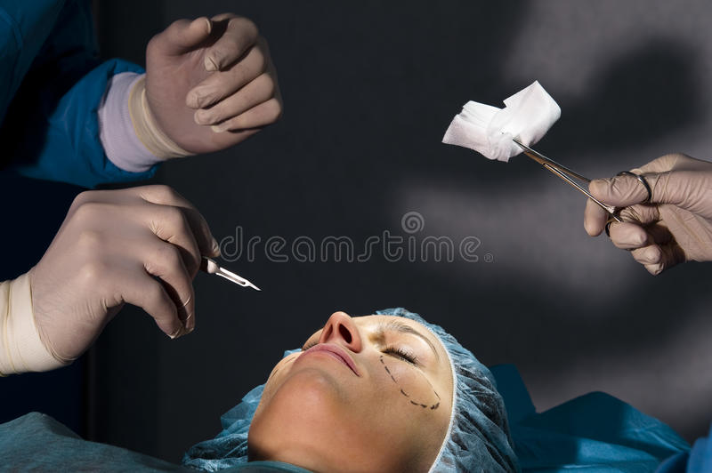 Download Plastic Surgery stock image. Image of caucasian, perforation - 18252141