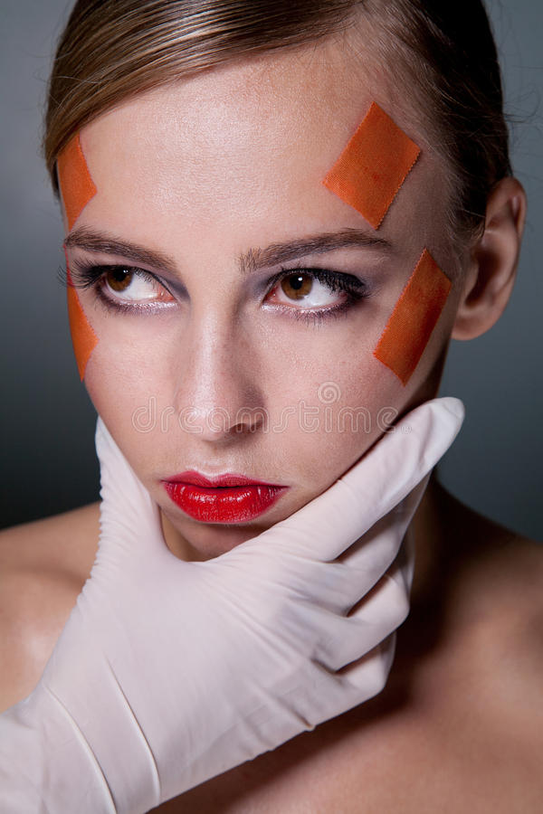 Download Plastic surgery concept stock image. Image of plasters - 14747679