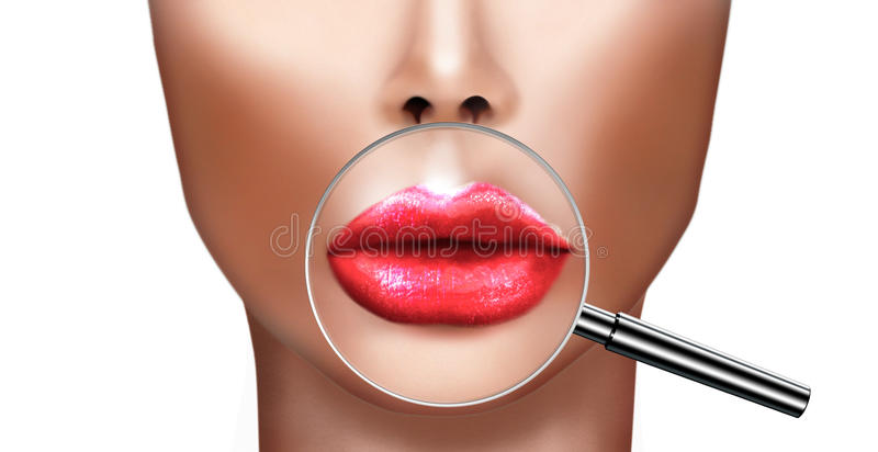 Plastic surgery and cosmetic improvement medical health and beauty royalty free illustration