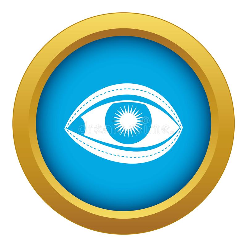 Plastic surgery of eye icon blue vector isolated. On white background for any design vector illustration