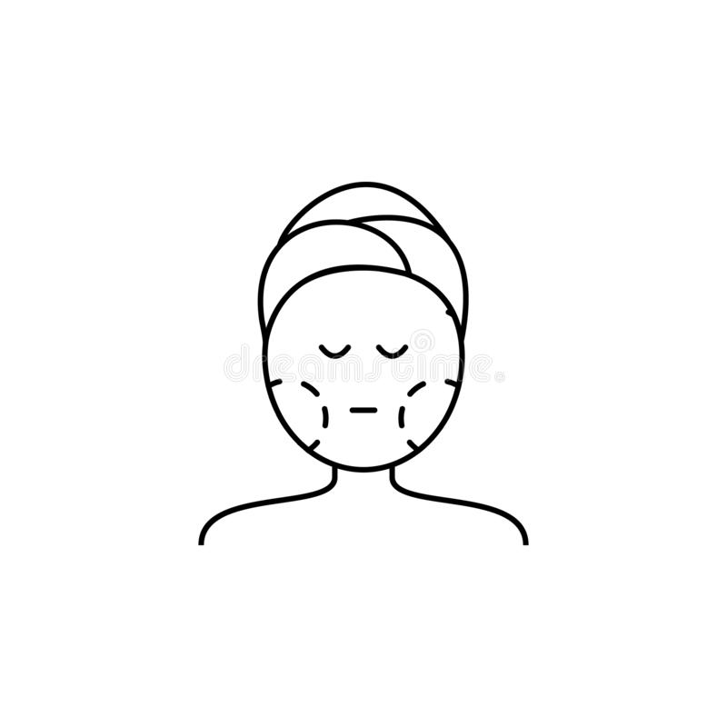 plastic surgery face line icon on white background vector illustration