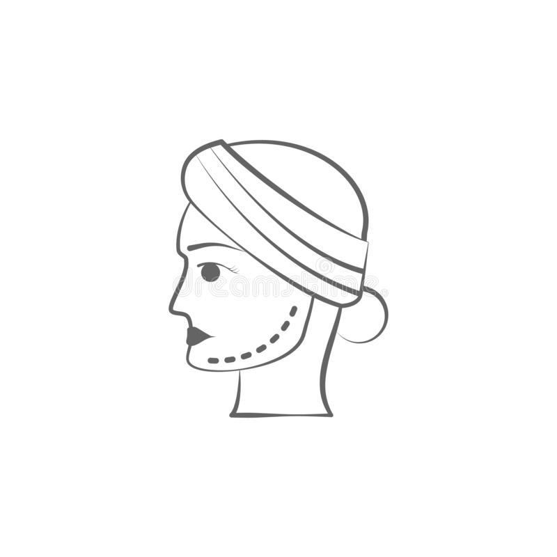 plastic surgery hand draw icon. Elements of face and body lifting illustration icon. Signs and symbols can be used for web, logo, royalty free illustration