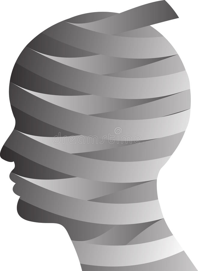 Plastic surgery head. Vector illustration of plastic surgery head stock illustration
