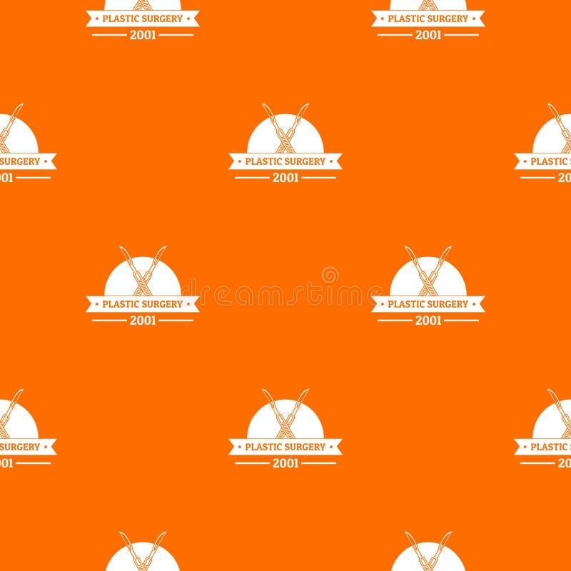 Plastic surgery pattern vector orange. For any web design best vector illustration