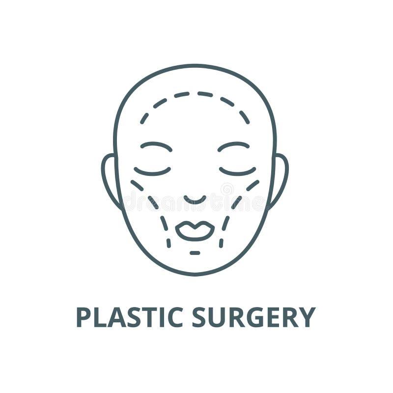 Plastic surgery vector line icon, linear concept, outline sign, symbol. Plastic surgery vector line icon, outline concept, linear sign royalty free illustration